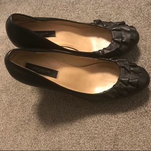Ann Taylor Leather Ruffle Pumps